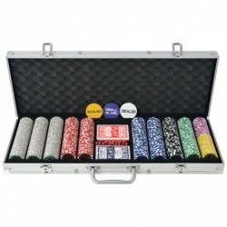 vidaXL Poker Set mit 500...